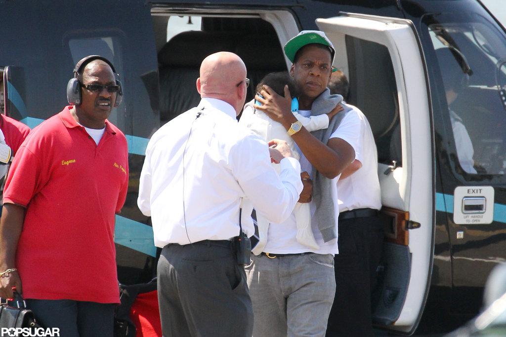 Jay-Z carried Blue Carter.