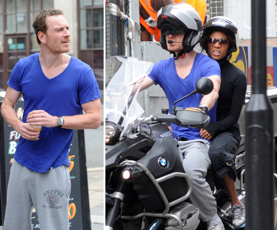 Michael Fassbender Welcomes His Girlfriend to London