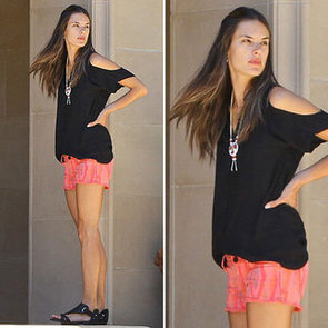 Alessandra Ambrosio Wearing Cutoffs