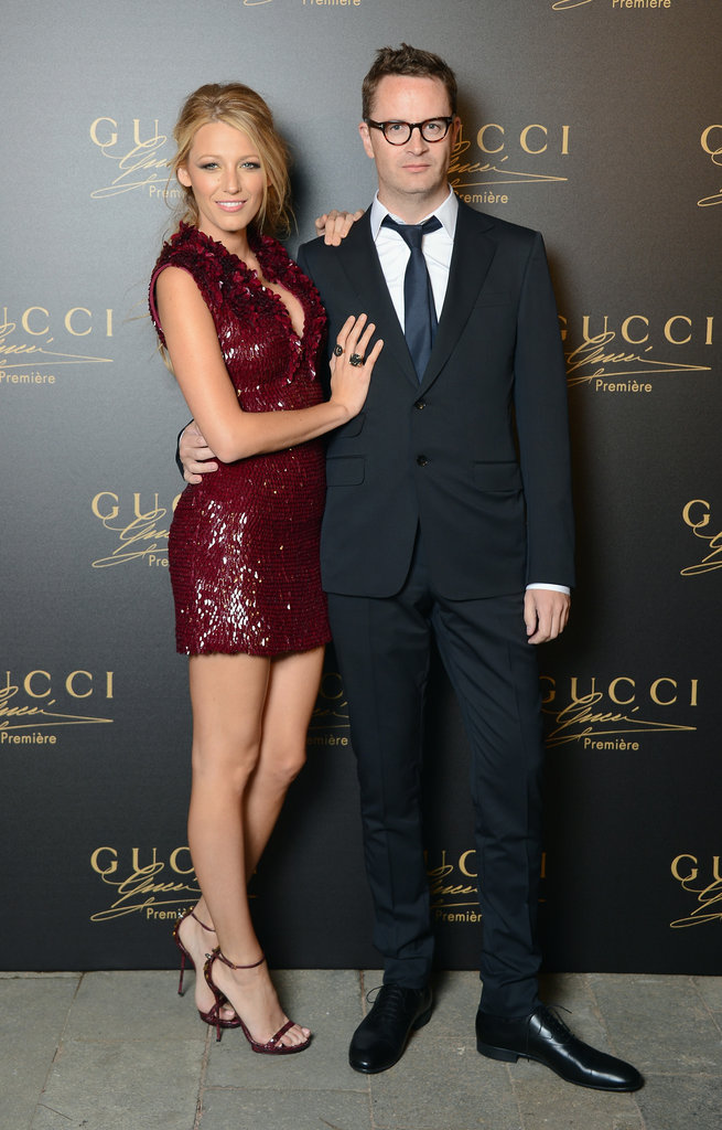 Blake Lively linked up with Nicolas Winding Refn at the Gucci party in Venice.