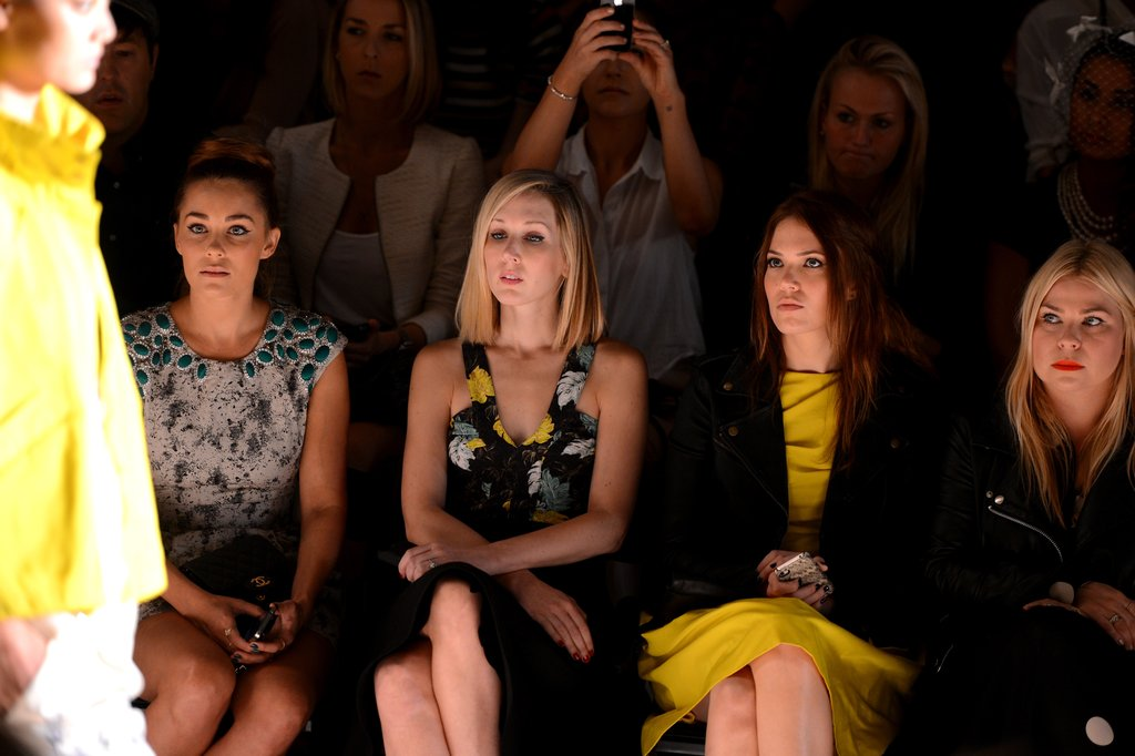 Lauren Conrad and Mandy Moore both had front row seats at the Lela Rose show.