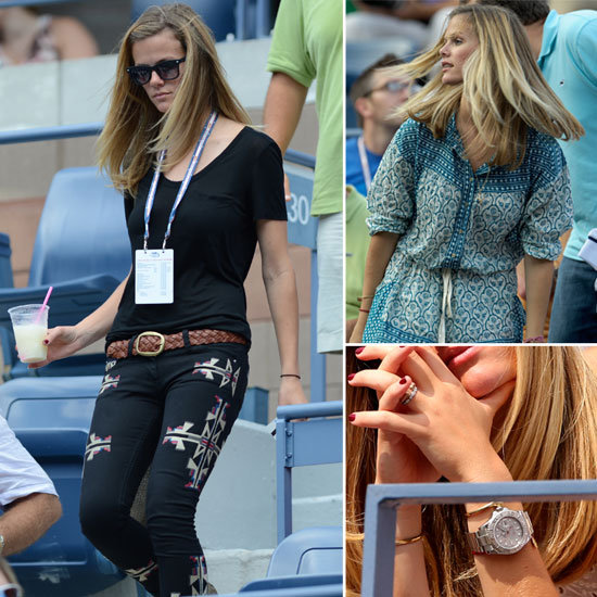 Pictures of Brooklyn Decker's Centre Court Style at the 2012 US Open Watching husband Andy Roddick in Isabel Marant