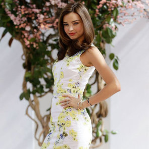 Miranda Kerr Wearing Floral Dress