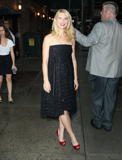Claire Danes made an appearance on Late Show With David Letterman.