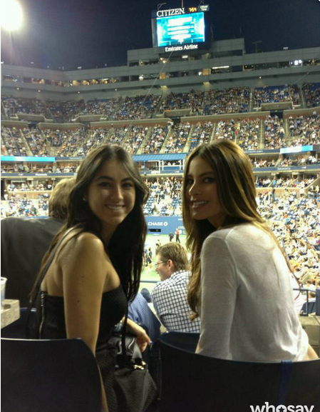 Sofia Vergara watched the US Open. Source: Sofia Vergara on WhoSay