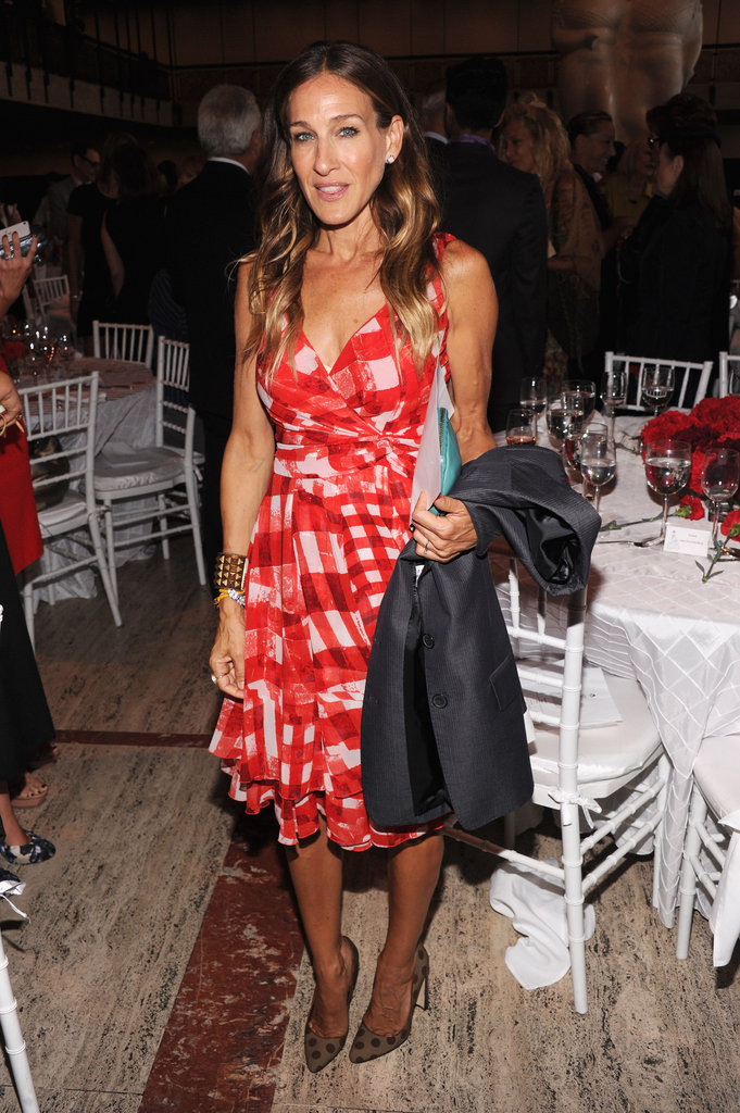 Sarah Jessica Parker stepped out for a lunch honouring Oscar de la Renta.
