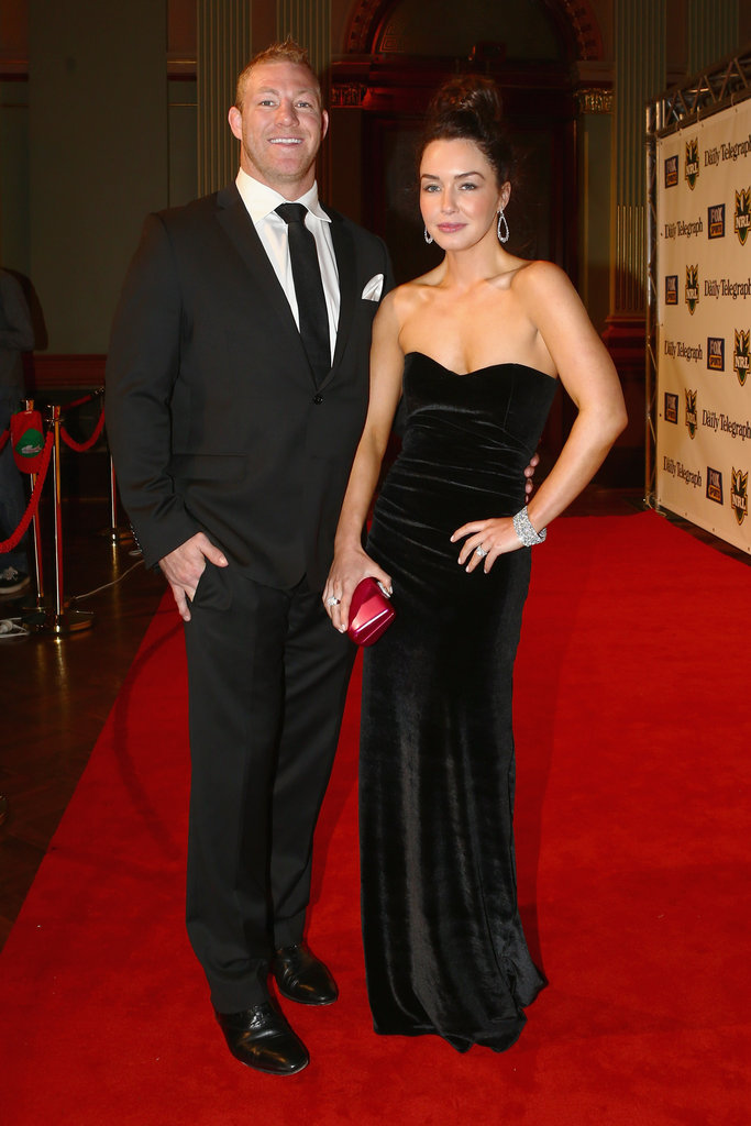Michael Crocker and his wife Sally Carne on the red carpet.