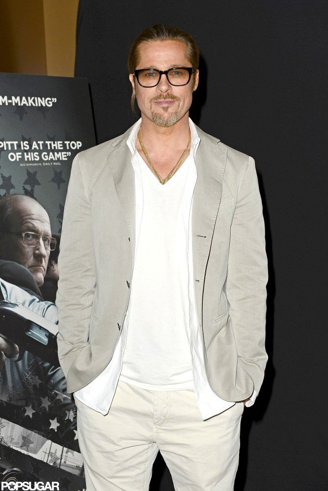 Brad Pitt posed at a screening of Killing Them Softly.