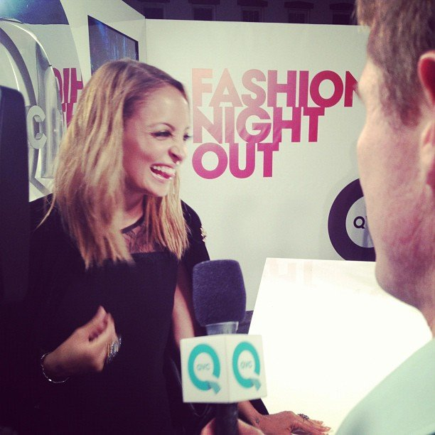 Nicole Richie joked with press during one of her FNO stops.  Source: Instagram user nicolerichie