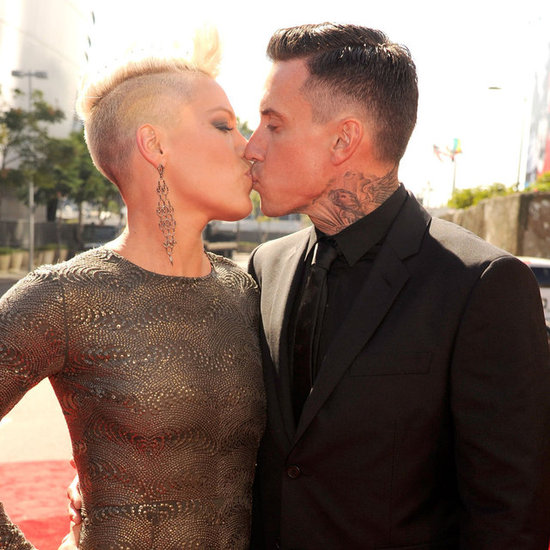 Pink And Husband Carey Hart On The Red Carpet At 2012 MTV VMAs