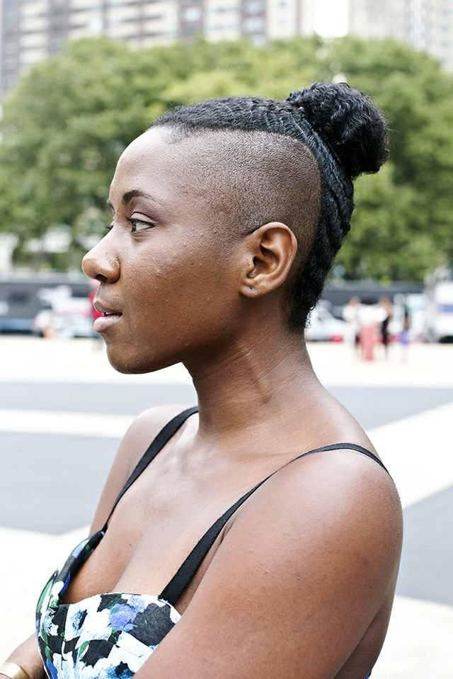 This skillfully braided bun was more sculpture than hairstyle. Photo by Caroline Voagen Nelson
