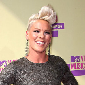 Photo of Pink on the 2012 MTV VMAS Red Carpet With a Mohawk