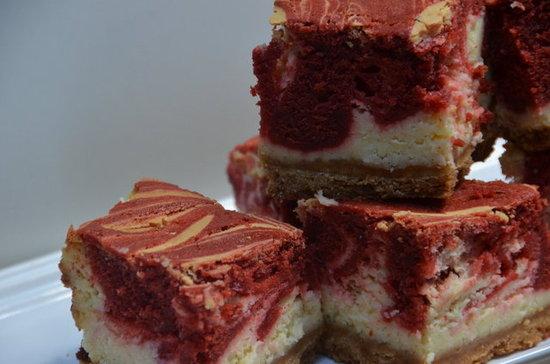 Red White And Blue Swirled Cheesecake Bars Recipes — Dishmaps