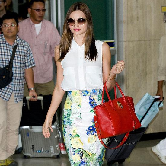 Miranda Kerr Wearing Floral Skirt