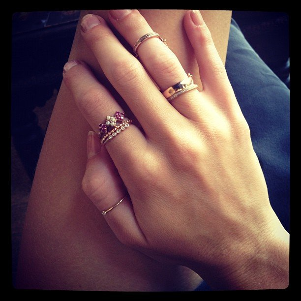 Rosie Huntington-Whiteley showed off some new accessories on her right hand.  Source: Instagram user rosiehw