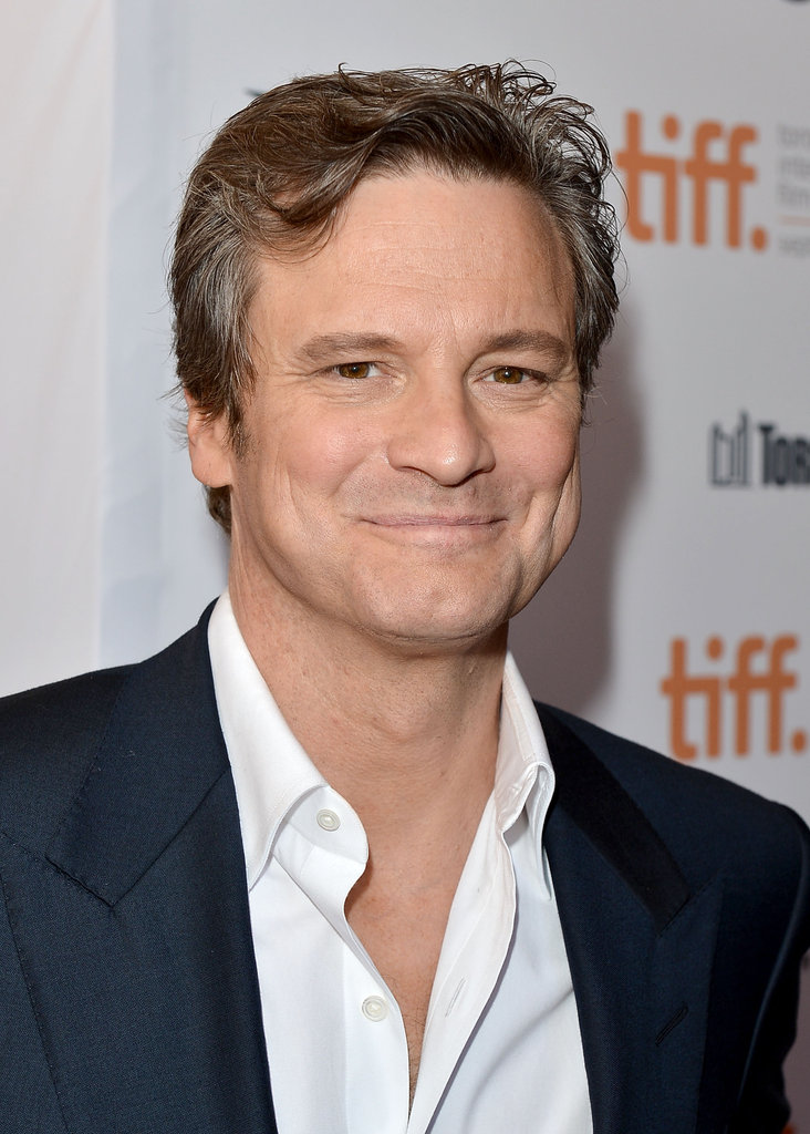 Colin Firth was all smiles at the premiere.