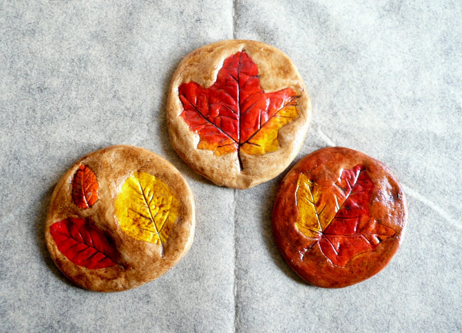 For Fall: Salt Dough Leaf Prints