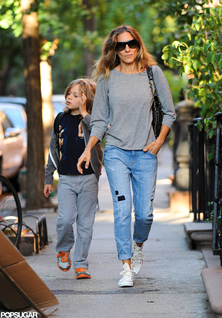 Sarah Jessica Parker walked son James Wilkie Broderick to school in NYC.