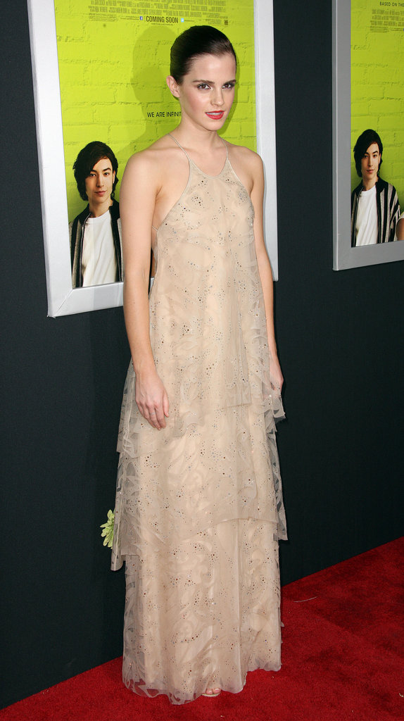 Emma Watson wore Giorgio Armani for the Perks of Being a Wallflower premiere in LA