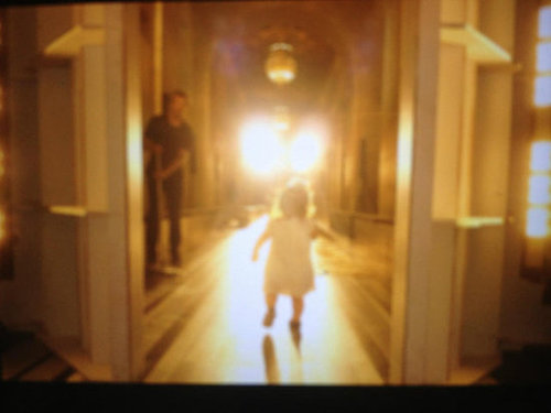 Victoria Beckham captured a shot of Harper testing out the runway in NYC. Source: Twitter user victoriabeckham