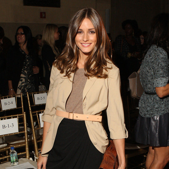 Olivia Palermo Wearing Khaki Blazer at New York Fashion Week