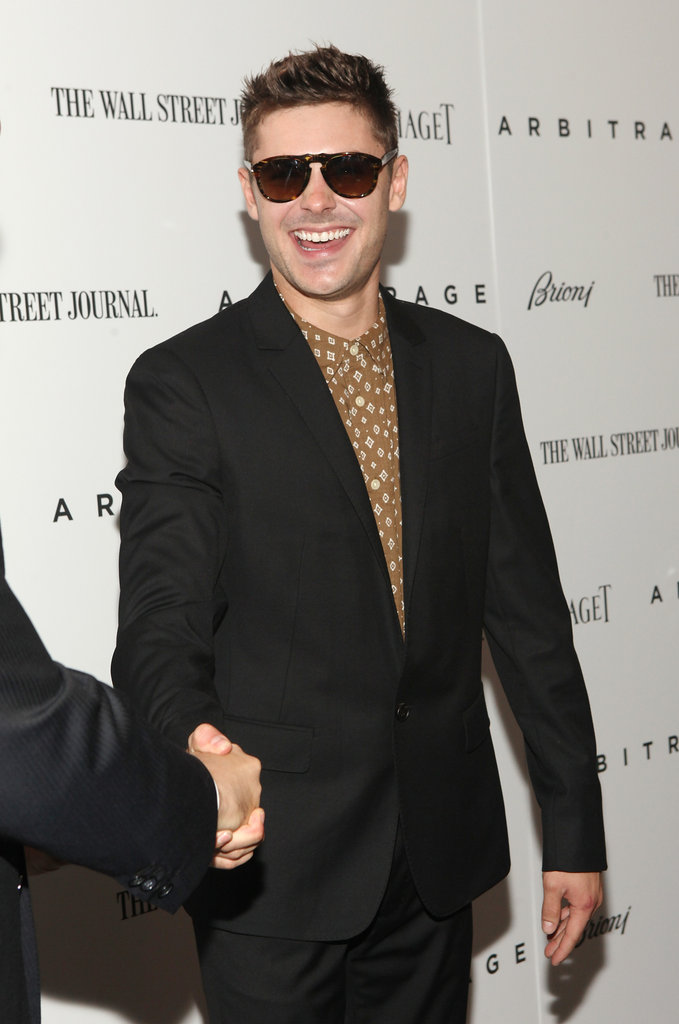 Zac Efron hit the red carpet for the premiere of Arbitrage in NYC.