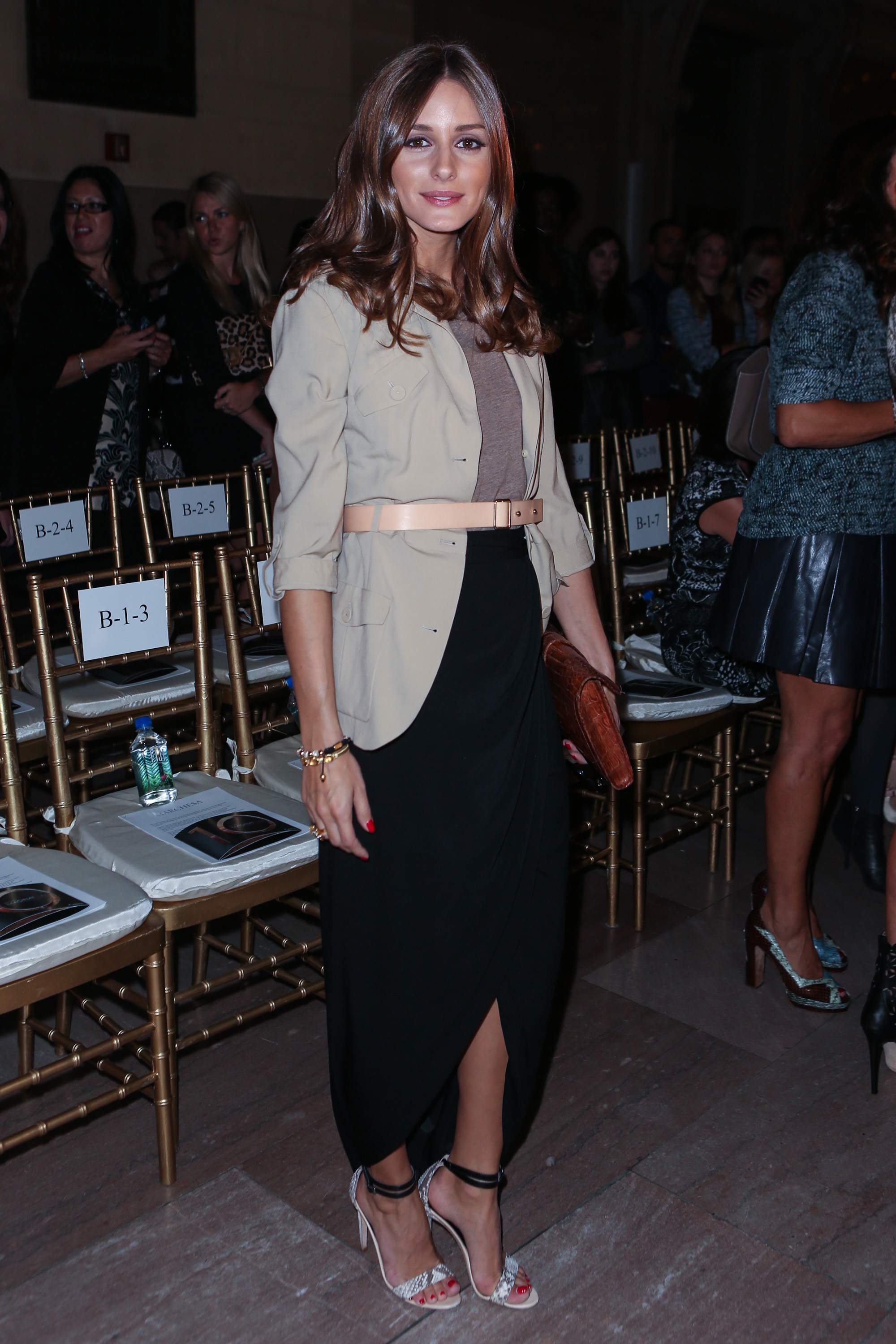 Olivia Palermo was eclectic chic (per usual!) at Marchesa.