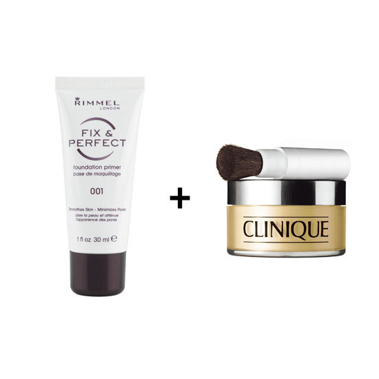 Rimmel London Fix and Perfect Foundation Primer, $13.95 + Clinique Redness Solutions Instant Relief Mineral Powder, $70