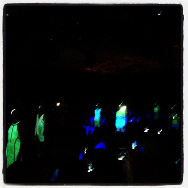 The glow-in-the-dark runway finale of Alexander Wang was a fun end to a great show.