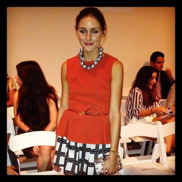 Olivia Palermo posed for a quick photo at Tibi's Spring '13 show.