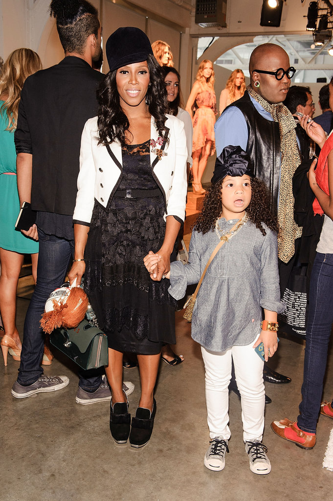 Stylist June Ambrose had her daughter, Summer Chamblin, as a constant companion at the shows, where the tot may have picked up some style tips!