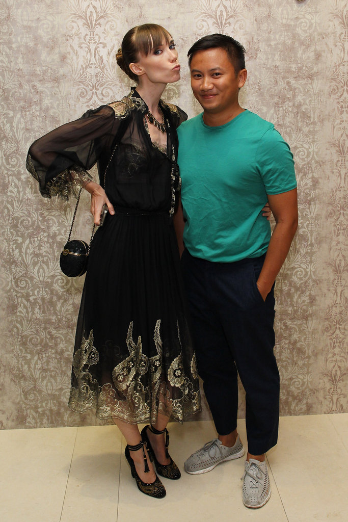 Elena Perminova and Tommy Ton