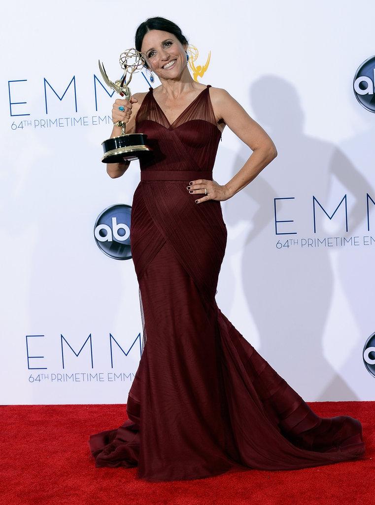 Julie Louis-Dreyfus showed off her Emmy.