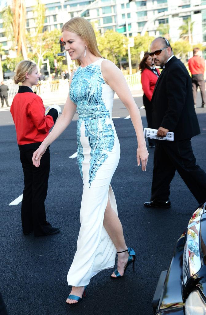 Nicole Kidman headed for the red carpet.