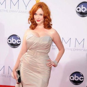 Christina Hendricks in Christian Siriano Dress at 2012 Emmys
