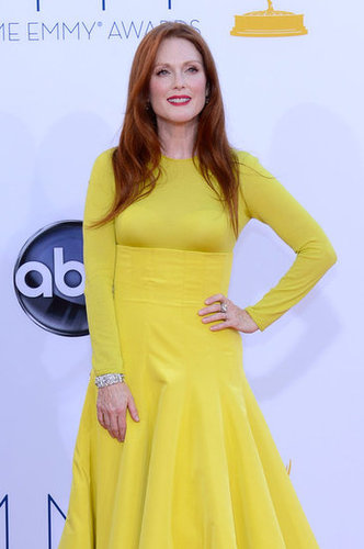 Julianne Moore looked stunning in a yellow Dior gown.