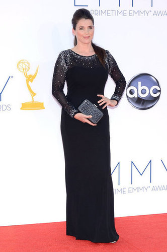 Julia Ormond wore a black gown to the Emmys.