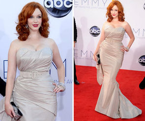 Pictures of Mad Men Star Christina Hendricks in Christian Siriano Dress at the 2012 Emmy Awards