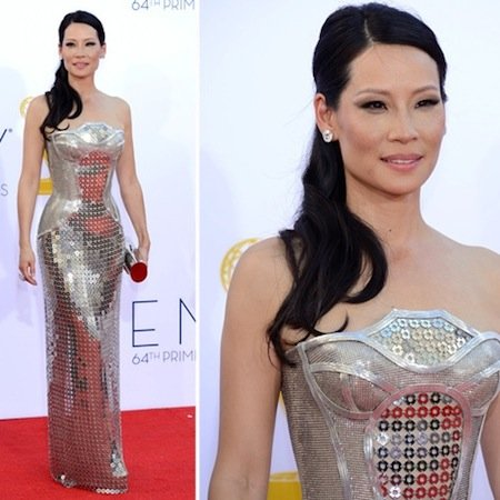 Lucy Liu at the Emmys 2012