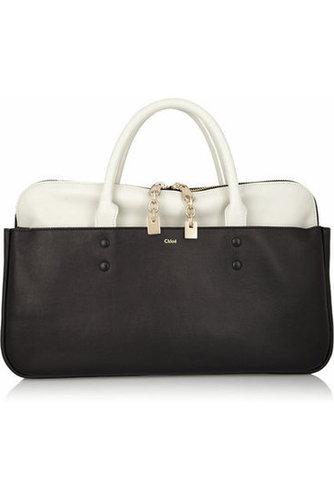 Chloé|Lucy leather tote|NET-A-PORTER.COM