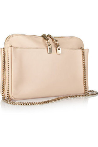 Chloé | Lucy leather clutch | NET-A-PORTER.COM