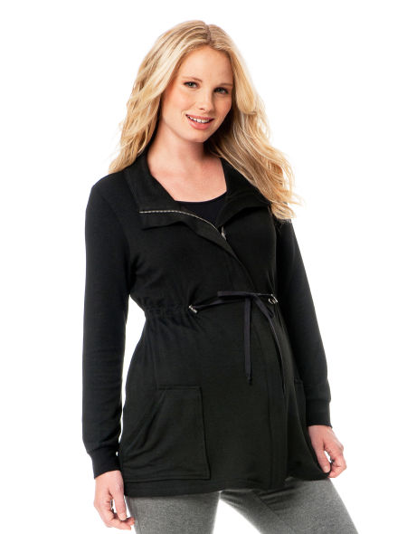 Terry Zip Front Maternity Jacket ($49)