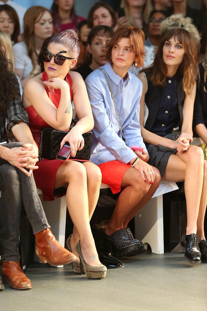 Kelly Osbourne, Pixie Geldof and Alexa Chung at House of Holland