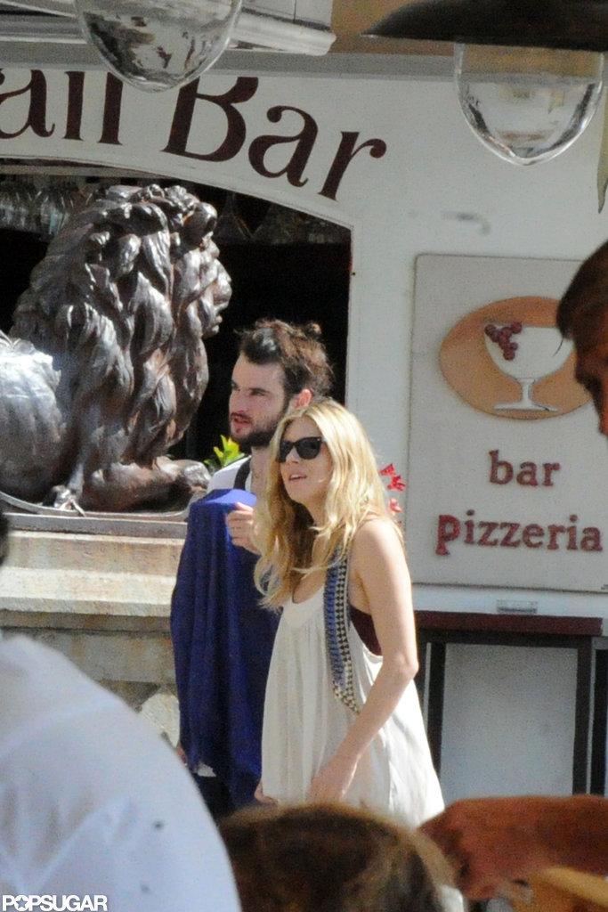 Tom Sturridge and Sienna Miller took Marlowe Sturridge on a getaway to Positano.