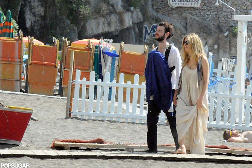 Sienna Miller, Tom Sturridge, and Marlowe Sturridge took a family vacation to Positano.