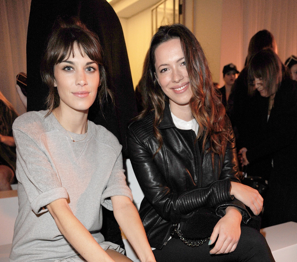 Photo of Rebecca Hall & her friend  Alexa Chung