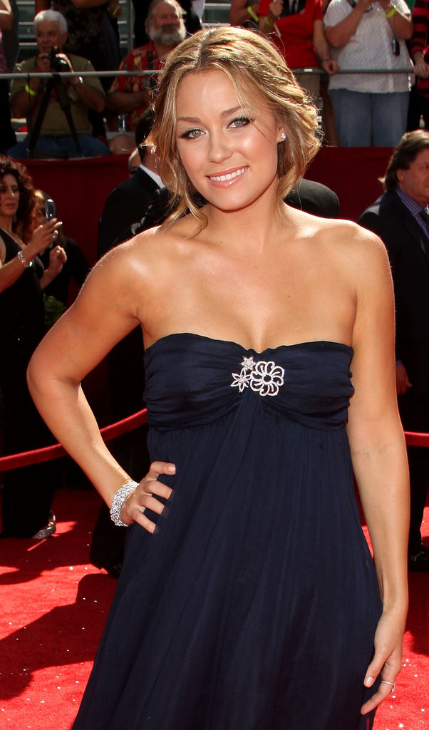 Lauren Conrad wore a navy design in 2008.