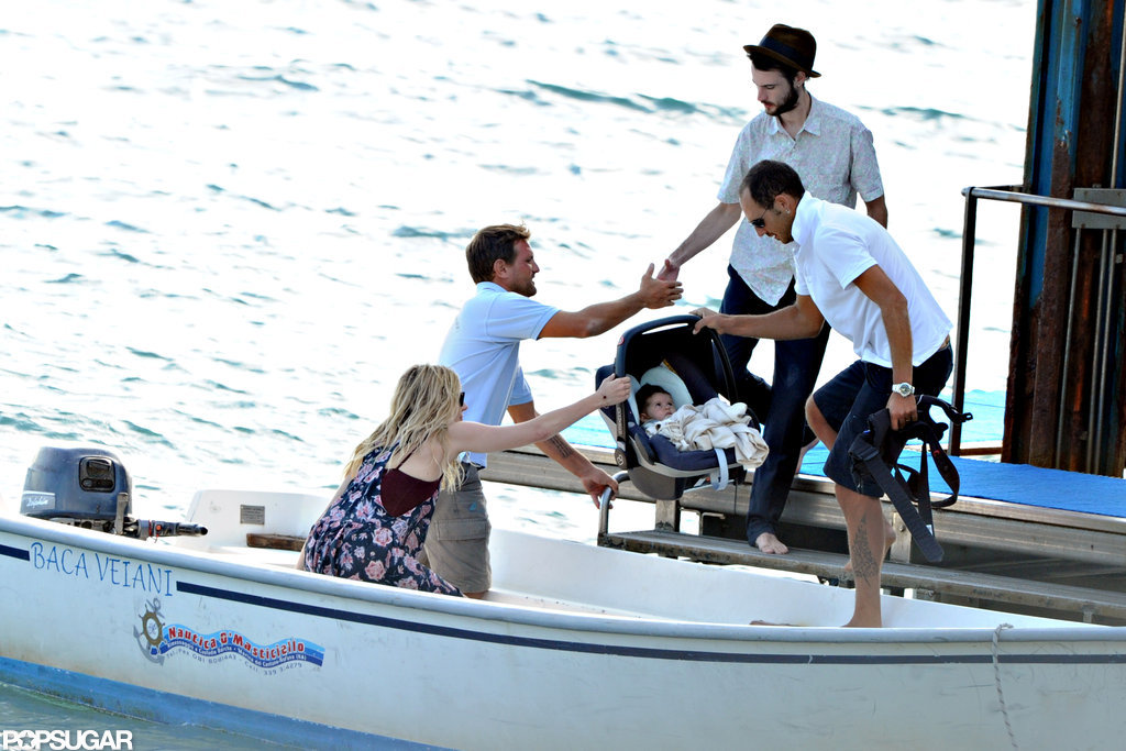 Sienna Miller and Tom Sturridge were accompanied by baby Marlowe for their getaway to Positano.