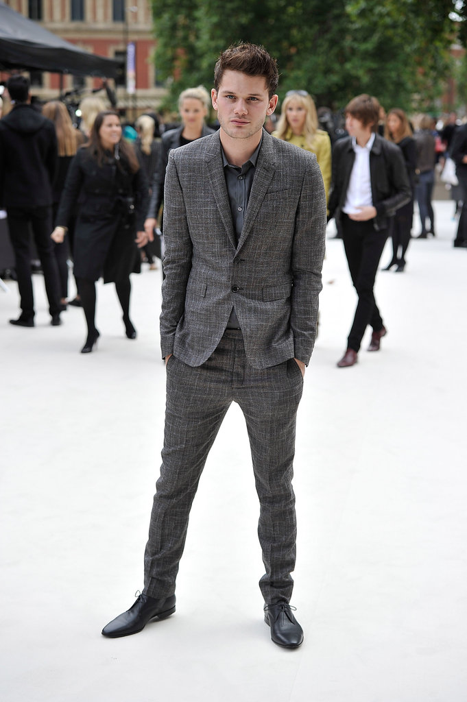 Jeremy Irvine at Burberry