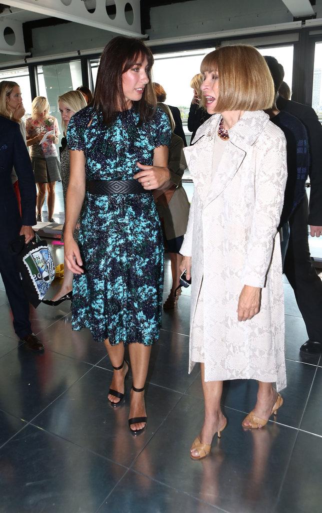 Samantha Cameron and Anna Wintour at Christopher Kane